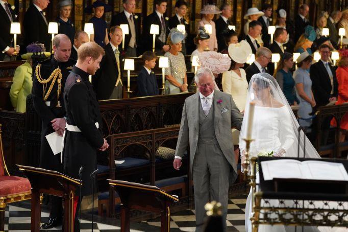 The royal wedding ceremony