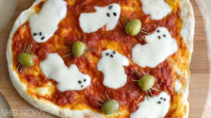 34 Halloween foods that'll take your party to the next level: Ghost pizza