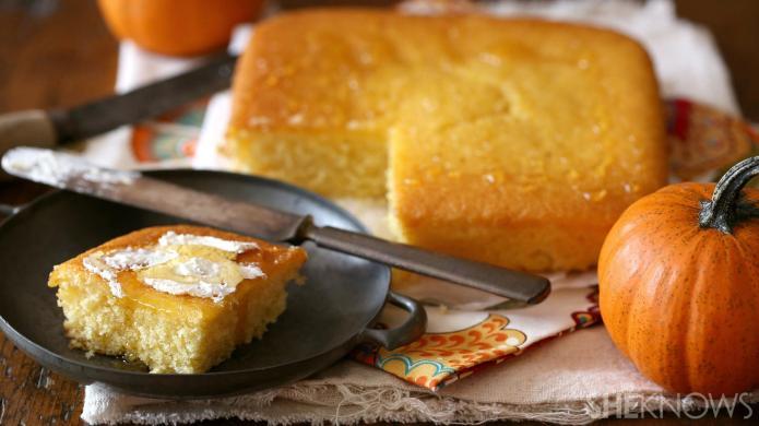 Try pumpkin-honey cornbread for a fall