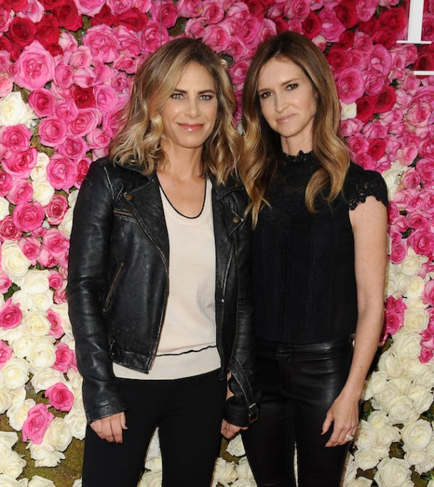 Jillian Michaels and Heidi Rhoades attend the premiere of 'Mother's Day' at TCL Chinese Theatre IMAX