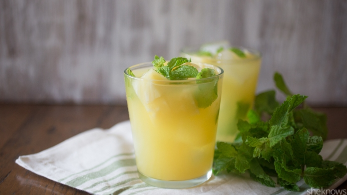 Pineapple-mint margaritas — the most refreshing