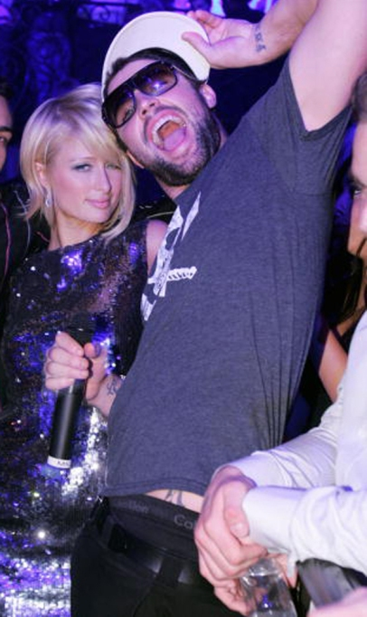 Brody Jenner and Paris Hilton at an NYE party