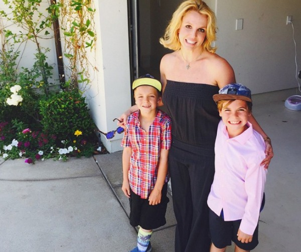 Britney Spears with Sean and Jayden James