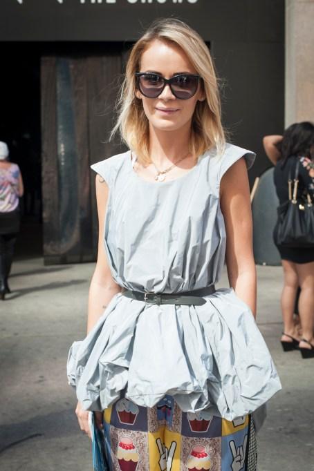 Fashion week street style funky blouse