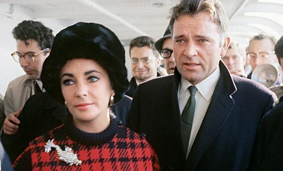 Elizabeth Taylor and husband Richard Burton