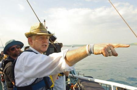 Director Richard Curtis of Love, Actually fame directing Pirate Radio