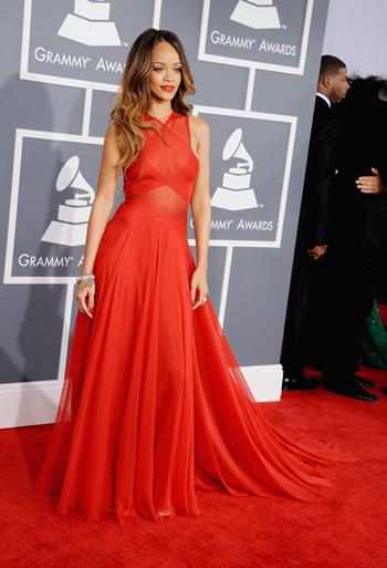 Rihanna's custom Grammys gown