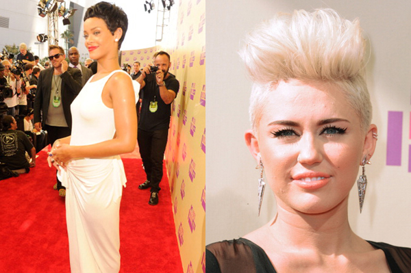 Rihanna and Miley Cyrus hairstyle