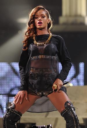 Rihanna onstage in Florida
