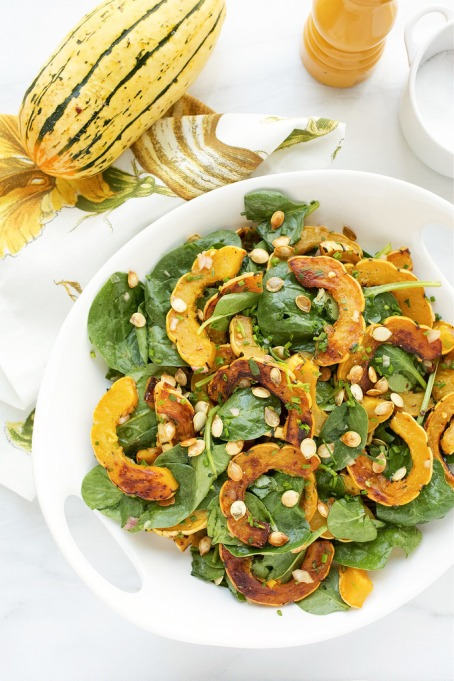 Yummy Winter Salads You'll Actually Crave   Delicata Squash Salad with Brown Butter Vinaigrette