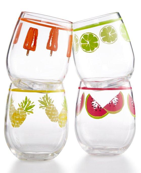 Cute, affordable wine glasses | summery wine glass