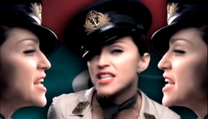 Madonna in 'American Life' music video