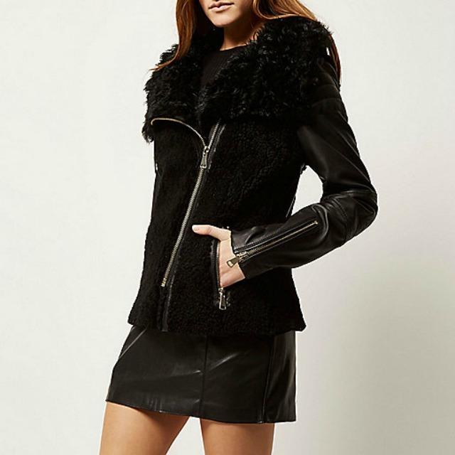 River Island shearling coat