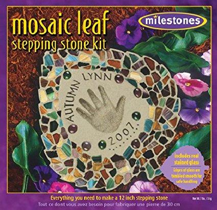Mosaic Leaf Stepping Stone Kit