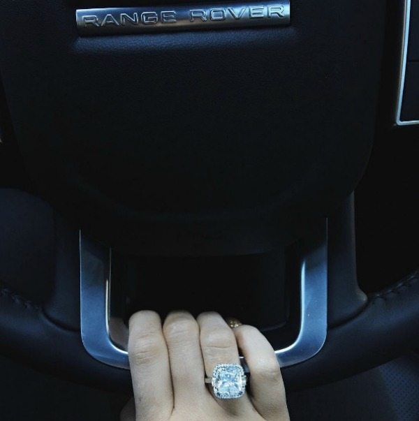 Kylie Jenner and Tyga engagement ring