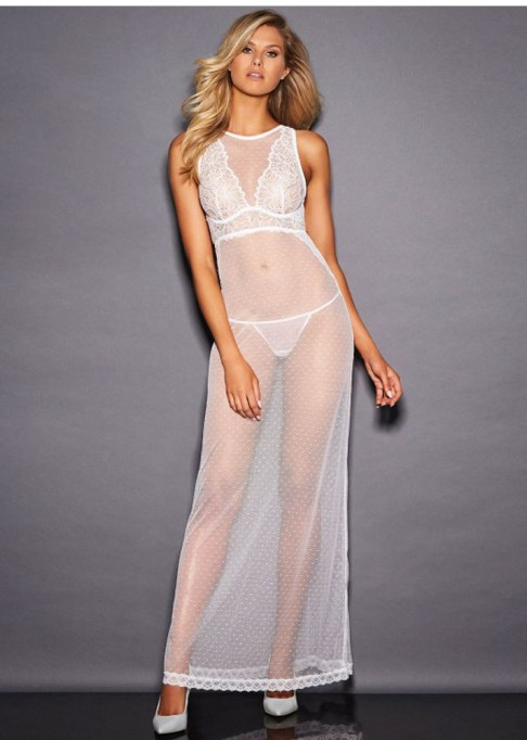 Mesh and Lace Gown