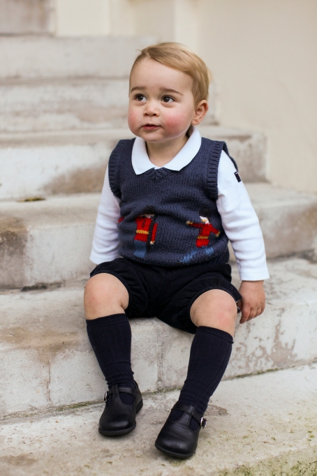 Prince George in a Christmas sweater
