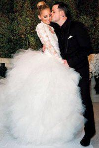 Nicole Richie's wedding dress: 3 Marchesa