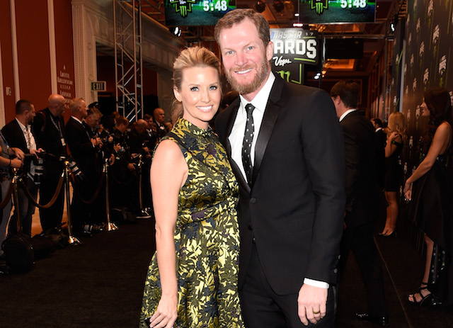 Dale Earnhardt Jr. & his wife, Amy, attend the Monster Energy NASCAR Cup Series awards