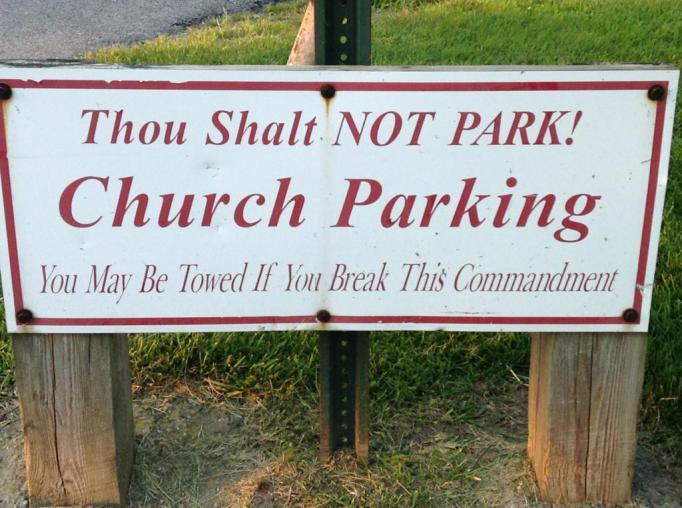 funny-church-signs-thou-shalt-not-park