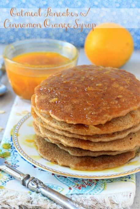 spiked orange pancakes