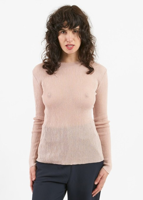 Summer Sweaters: Achro Round Neck Ribbed Knit Sweater   Summer fashion 2017