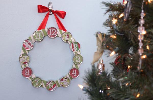 DIY 12 Days of Christmas wreath