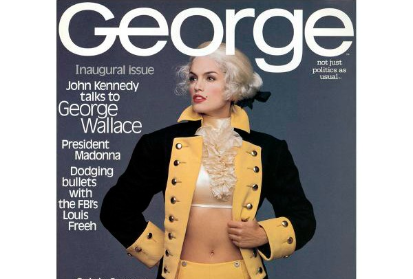 Cindy Crawford on the cover of 'George'