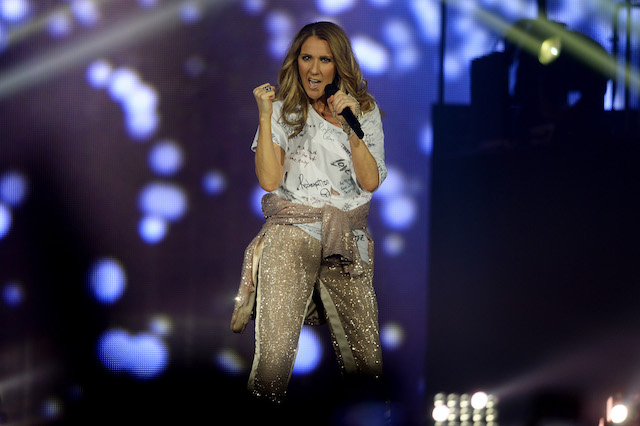 Celine Dion performs during the opening night of her Celine Dion Live 2017 tour