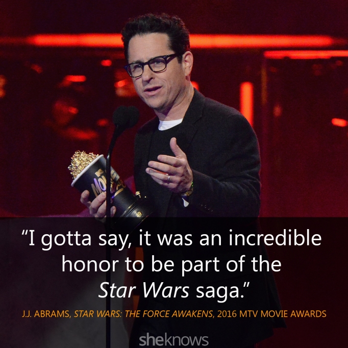 J.J. Abrams quote MTV Movie Awards