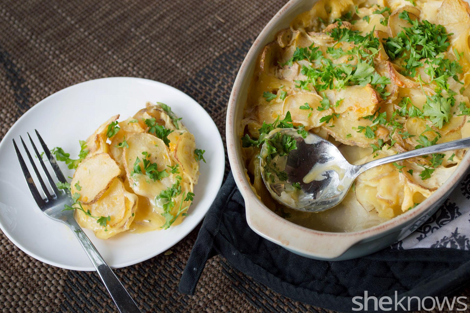 roasted garlic scalloped potatoes