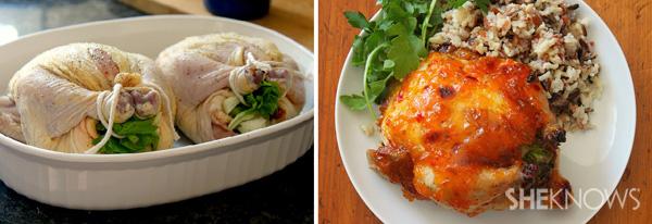 Roasted glazed Cornish game hen recipe