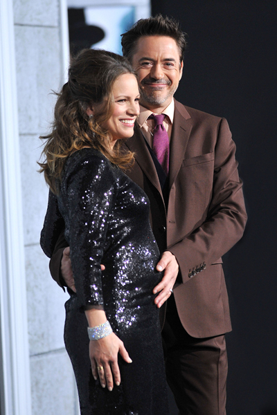 Robert Downey Jr and pregnant wife Susan Downey