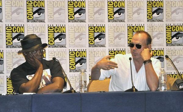 Michael Keaton and Samuel L. Jackson talk drones at Comic Con