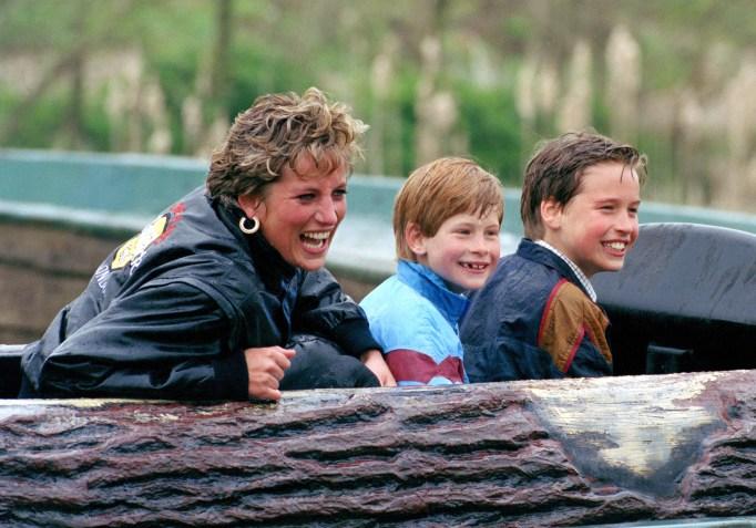 Iconic photos of Princess Diana: Diana at an amusement park