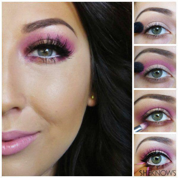 Rose-gold date night eye makeup