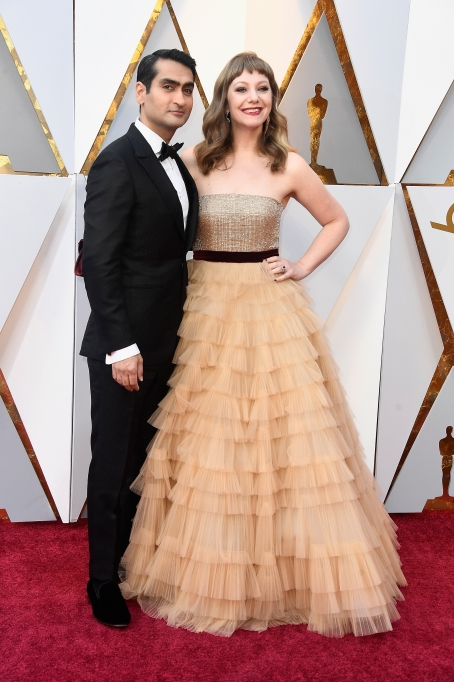 Kumail Nanjiani, Emily V. Gordon at Oscars 2018