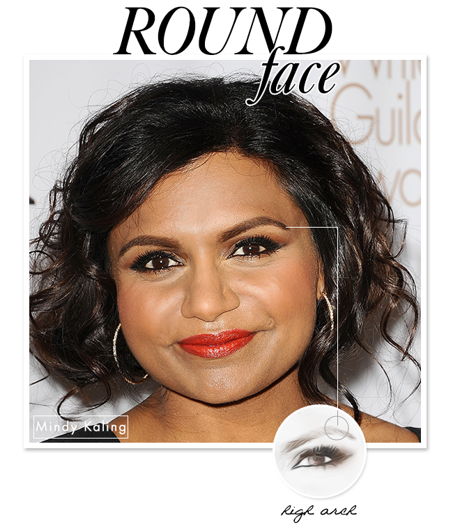 Eyebrow Shapes to Flatter Your Face: Round
