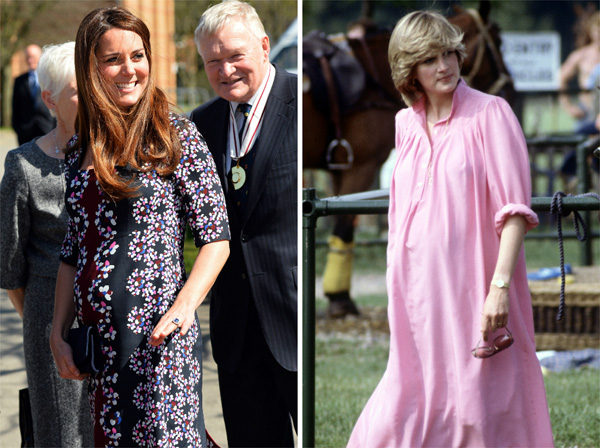 Casual chicks -- Kate Middleton and Princess Diana