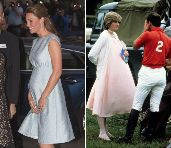 Formal females -- Kate Middleton and Princess Diana