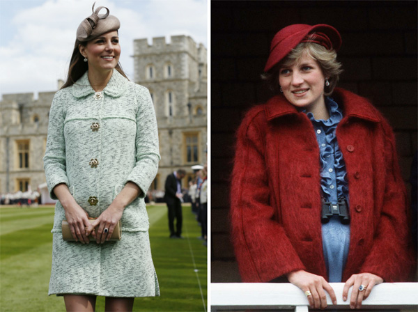 Haute hats -- Kate Middleton and Princess Diana