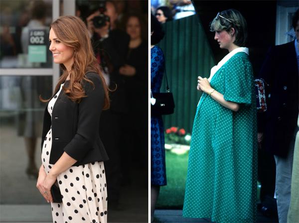 The polka dot dress -- Kate Middleton and Princess Diana