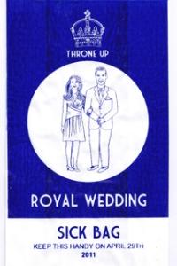 Royal Wedding sick bag