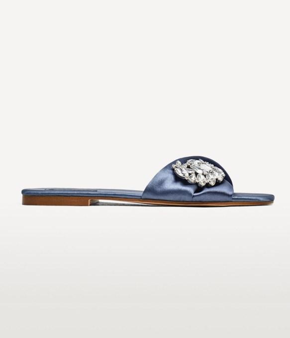 Best Slides for the Summer: Zara Satin Slides with Gem | Summer Style 2017