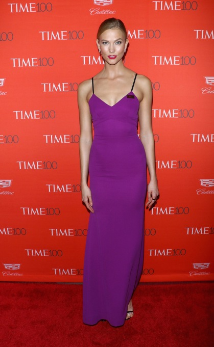 Ultra Violet On The Red Carpet | Karlie Kloss