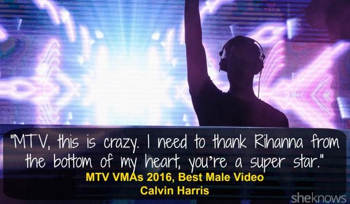 Calvin Harris VMAs 2016