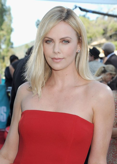Dramatic Celebrity Hair Makeovers | Before: Charlize Theron