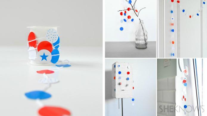 DIY patriotic decorative streamers