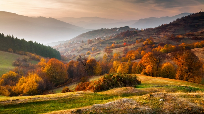 Rhodope Mountains in autumn time