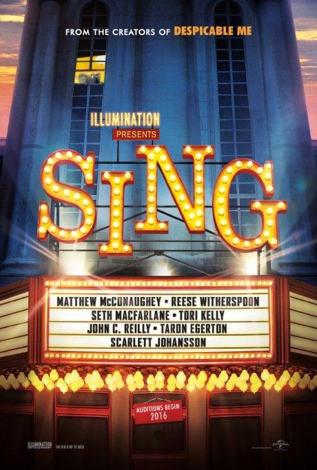 'Sing' movie poster